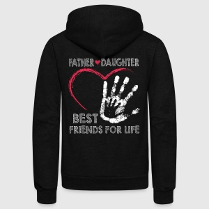 Father and daughter best friends for life - Unisex Fleece Zip Hoodie by American Apparel