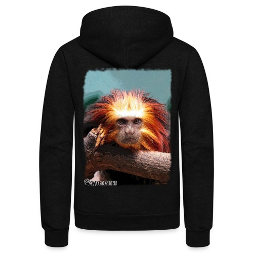 Monkey On Branch - Unisex Fleece Zip Hoodie