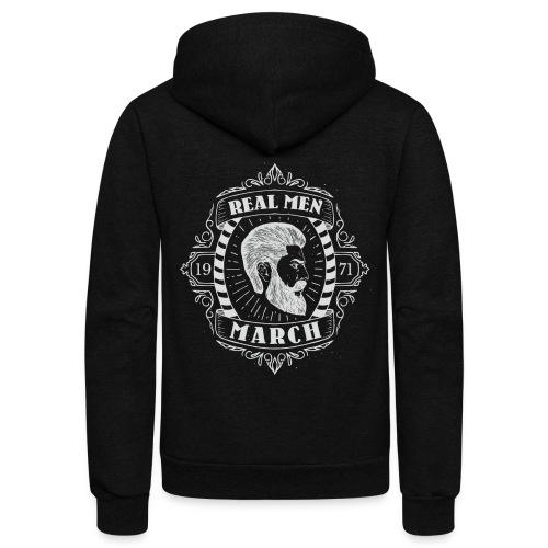 REAL MEN BORN in MARCH - Unisex Fleece Zip Hoodie