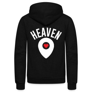 Heaven Is Right Here - Unisex Fleece Zip Hoodie by American Apparel