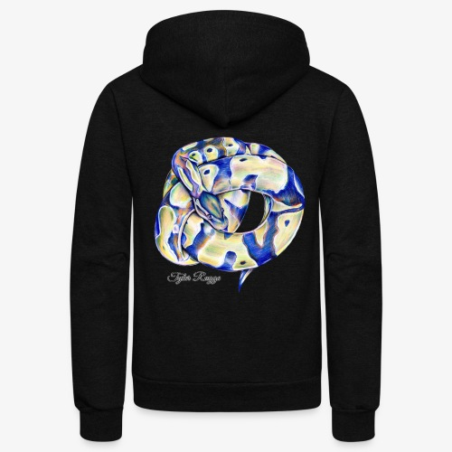 Monty the Ball Python - Unisex Fleece Zip Hoodie