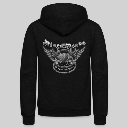 Dirty Deeds In Rock We Trust - Unisex Fleece Zip Hoodie