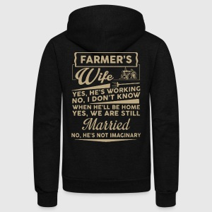 Farmer Wife Shirt - Unisex Fleece Zip Hoodie by American Apparel