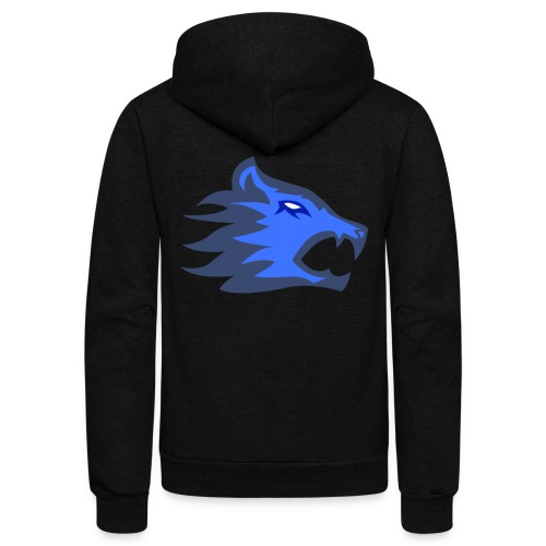 The Exodium Wolf [BLUE] - Unisex Fleece Zip Hoodie