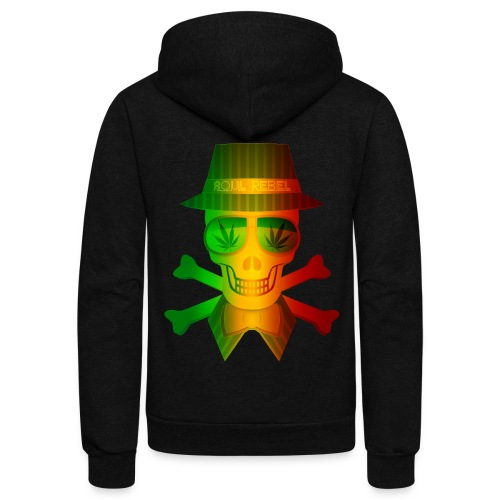 Rasta Man Rebel - Unisex Fleece Zip Hoodie
