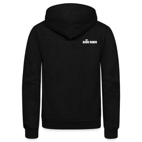 Axon Radio | White night apparel. - Unisex Fleece Zip Hoodie