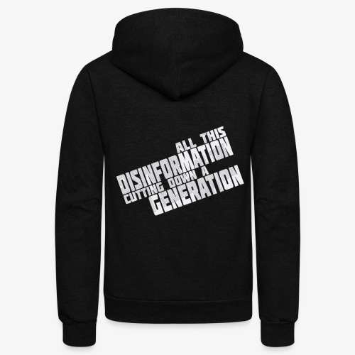 Disinformation - Unisex Fleece Zip Hoodie
