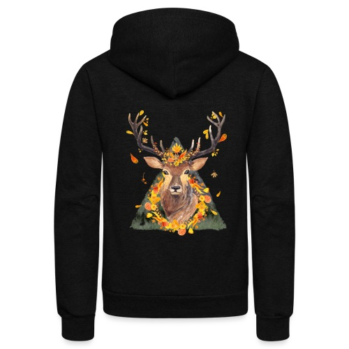 The Spirit of the Forest - Unisex Fleece Zip Hoodie