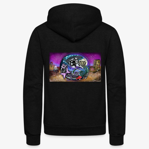 Mother CreepyPasta Land - Unisex Fleece Zip Hoodie