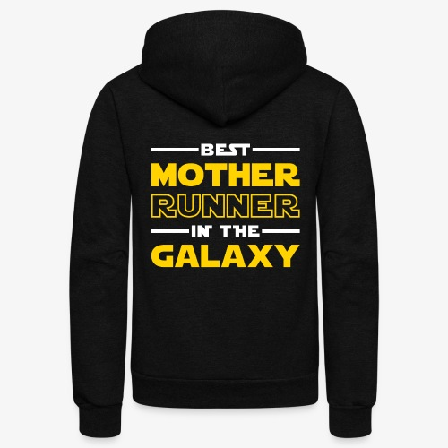 Best Mother Runner In The Galaxy - Unisex Fleece Zip Hoodie