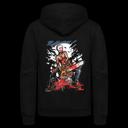 Halloween Chainsaw Killer - Unisex Fleece Zip Hoodie