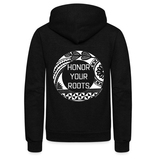 Honor Your Roots (White) - Unisex Fleece Zip Hoodie