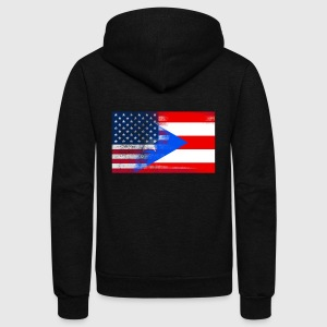 Puerto Rico American Flag Fusion - Unisex Fleece Zip Hoodie by American Apparel