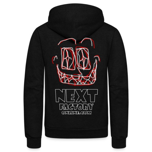 Next Factory Online Showcard Red and White WhtText - Unisex Fleece Zip Hoodie
