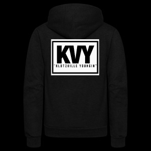 Klotzville Youngin Box Logo - Unisex Fleece Zip Hoodie