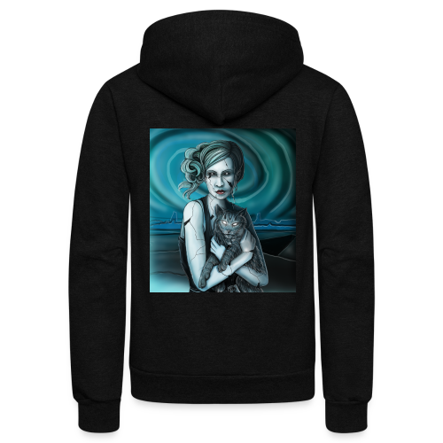 Blackeyed Blonde Portrait - Unisex Fleece Zip Hoodie