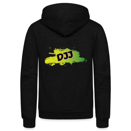 DJJ Green splash - Unisex Fleece Zip Hoodie