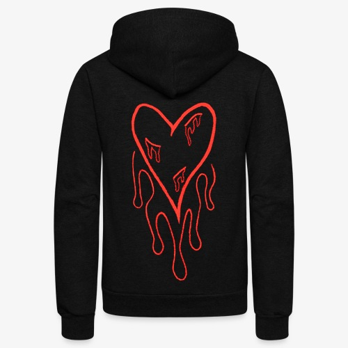 bleeding heart - Unisex Fleece Zip Hoodie