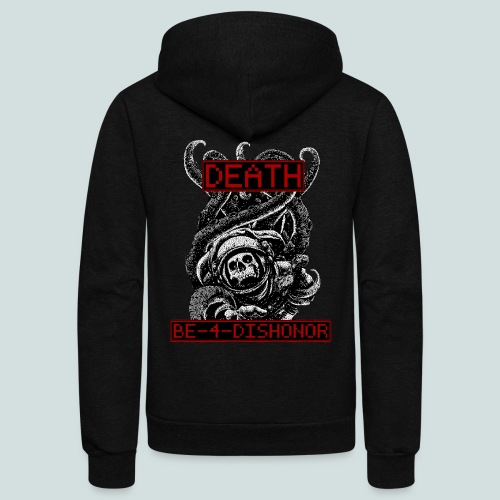 Clyde North DEATH BE-4-DISHONOR - Unisex Fleece Zip Hoodie