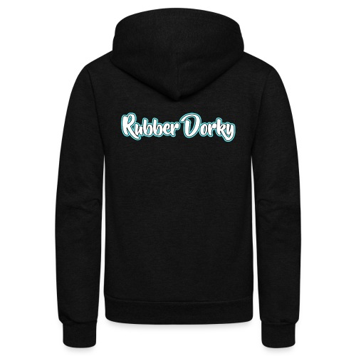 Rubber Dorky - Logo (name) - Unisex Fleece Zip Hoodie