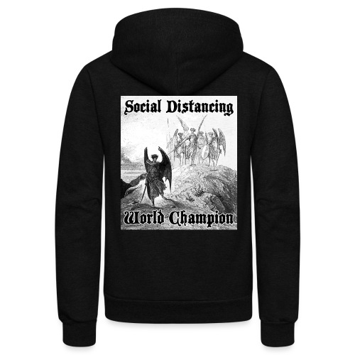 Social Distancing World Champion - Unisex Fleece Zip Hoodie