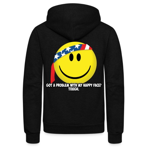 Happy Face USA - Unisex Fleece Zip Hoodie