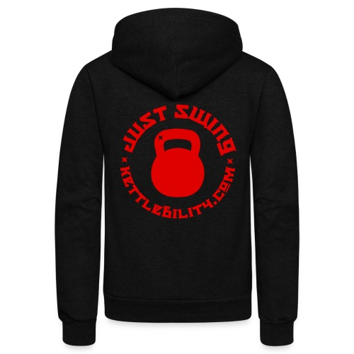 Just Swing red - Unisex Fleece Zip Hoodie