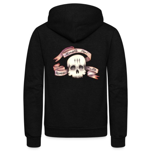 Momento Mori - Remember Death - Unisex Fleece Zip Hoodie