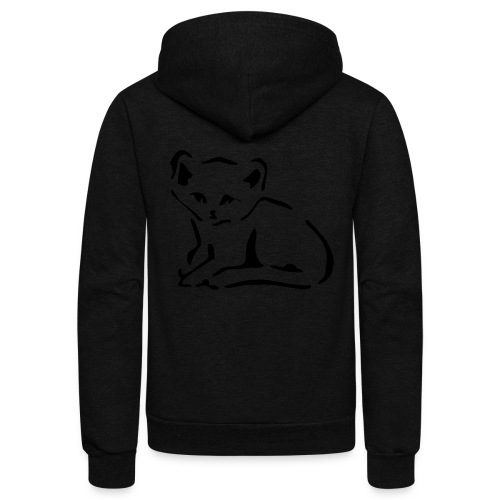 Kitty Cat - Unisex Fleece Zip Hoodie