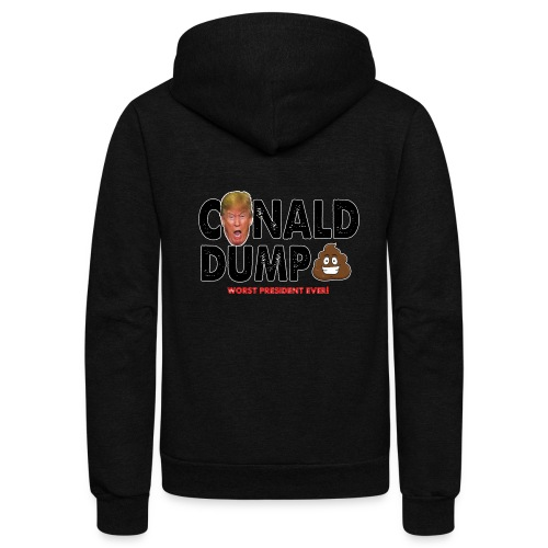 Conald Dump Worst President Ever - Unisex Fleece Zip Hoodie