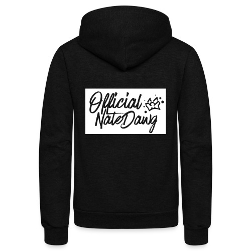 Official NateDawg Black White Covered Merch - Unisex Fleece Zip Hoodie