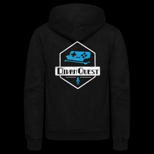 DivanQuest Logo (Badge) - Unisex Fleece Zip Hoodie by American Apparel