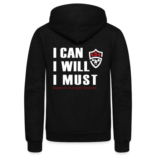 I can I will I must - Unisex Fleece Zip Hoodie