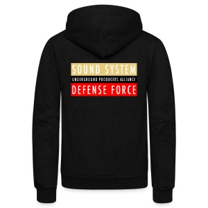 UPA Sound System Defense Force - Unisex Fleece Zip Hoodie