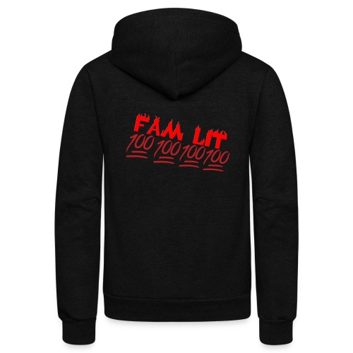 FAM LIT MERCH - Unisex Fleece Zip Hoodie