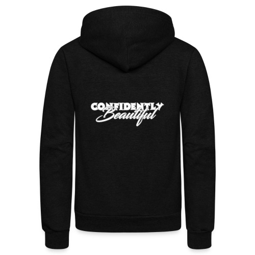 Confidently Beautiful (Dark Collection) - Unisex Fleece Zip Hoodie