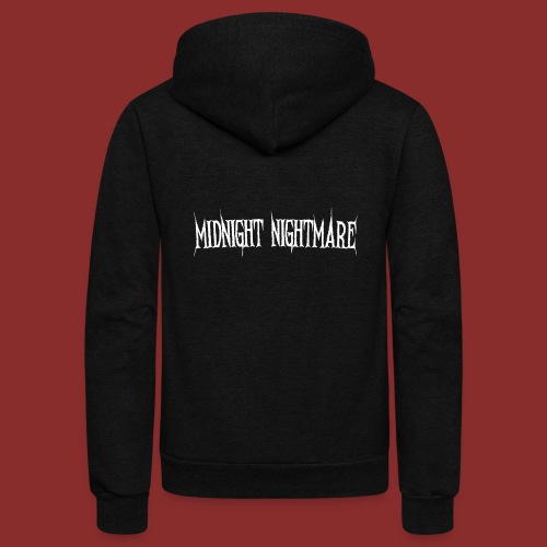 Midnight Nightmare Logo-w - Unisex Fleece Zip Hoodie
