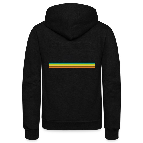 striped mug black logo png - Unisex Fleece Zip Hoodie