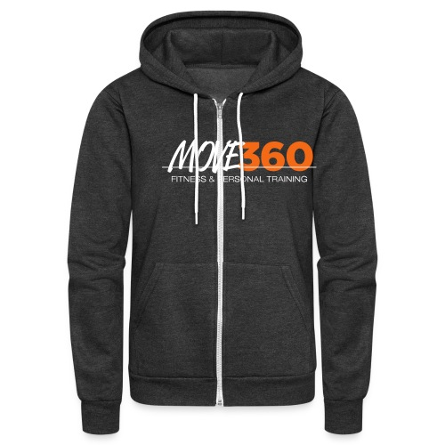 Move360 Logo LightGrey - Unisex Fleece Zip Hoodie