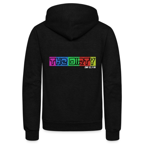 The Dirty FM transparent - Unisex Fleece Zip Hoodie