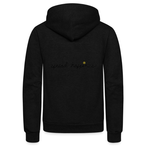 Spread Happiness Women's T-shirt - Unisex Fleece Zip Hoodie