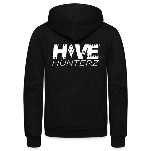 White Hive Hunterz Logo - Unisex Fleece Zip Hoodie