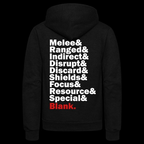 Discard to Reroll - Sides of the Die - Unisex Fleece Zip Hoodie