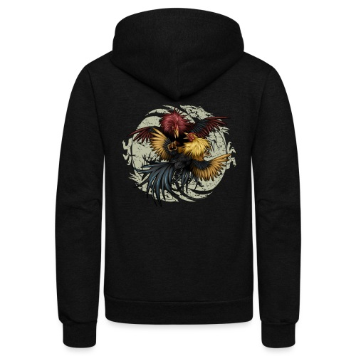 Ying Yang Gallos by Rollinlow - Unisex Fleece Zip Hoodie
