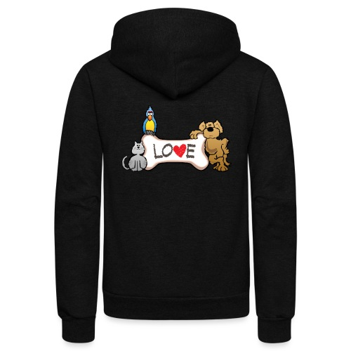 Pet Love - Unisex Fleece Zip Hoodie