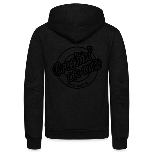 Crushing on cats - Unisex Fleece Zip Hoodie