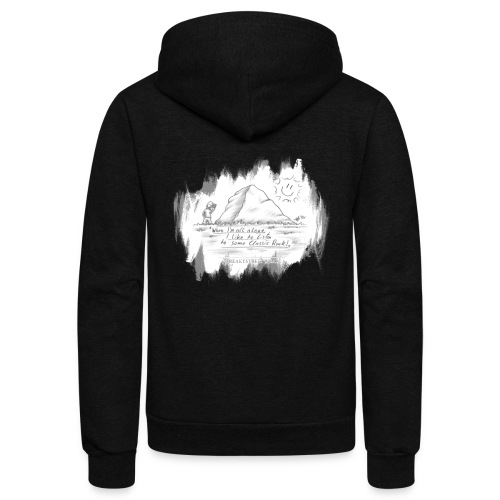 Listen to Classic Rock - Unisex Fleece Zip Hoodie