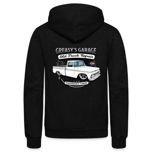Greasy's Garage Old Truck Repair - Unisex Fleece Zip Hoodie