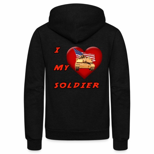 I Heart my Soldier - Unisex Fleece Zip Hoodie