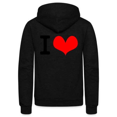 I Love what - Unisex Fleece Zip Hoodie